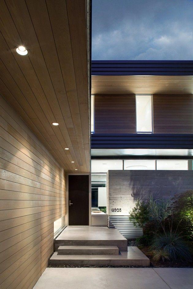 A Black Front Door // Ocean Park House by Campos Leckie Studio