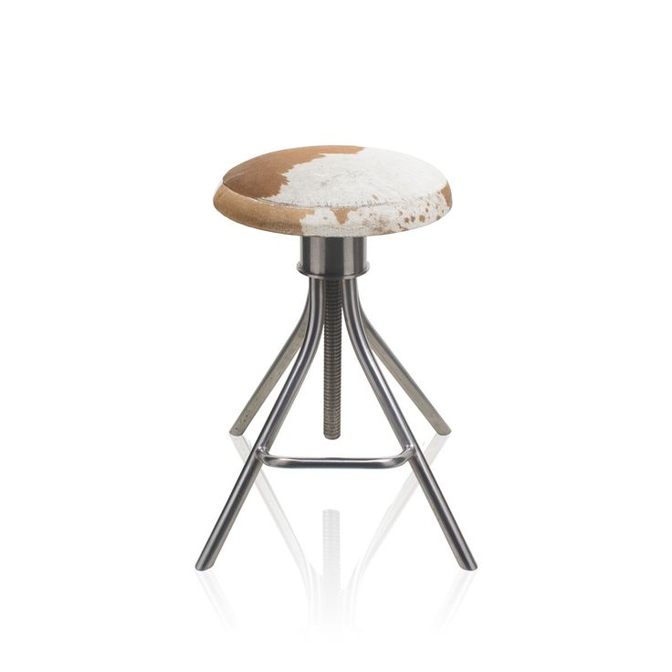 Feral Bar Stool - Add some charm to your study room by bringing home this elegant looking stool made of genuine leather. Made in a contemporary style and offering a seamless blend of functionality and style, this fancy decor piece is perfect for your home and office. #INVHome #LuxuryHomeDecor #InteriorDesign #RoomDecor #Decorations #Decor #INVHomeLinen #Tableware #Spa #Gifts #Furniture #LuxuryHomes #Furniture #Stools