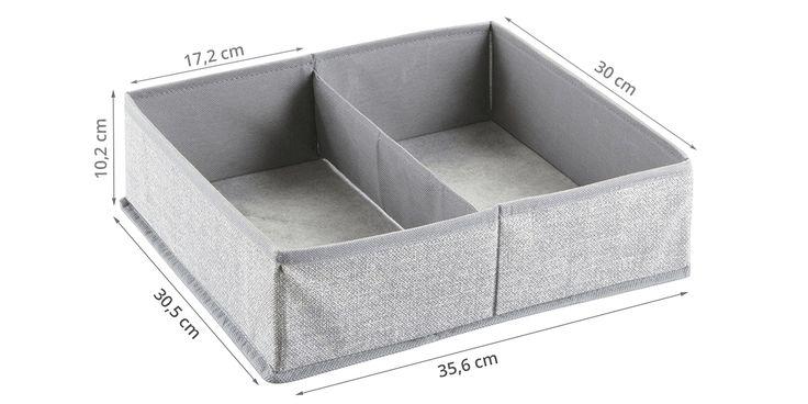 Séparateur de tiroir tissu - 2 compartiments
