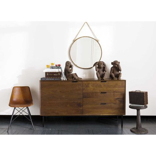 Buffetkast in notenhout maisons du monde berkley meubels for Maison du monde credenze basse