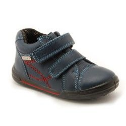 Navy Blue Leather Boys Children's Boots