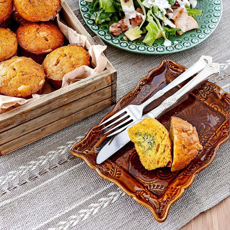 Muffins med broccoli och ost