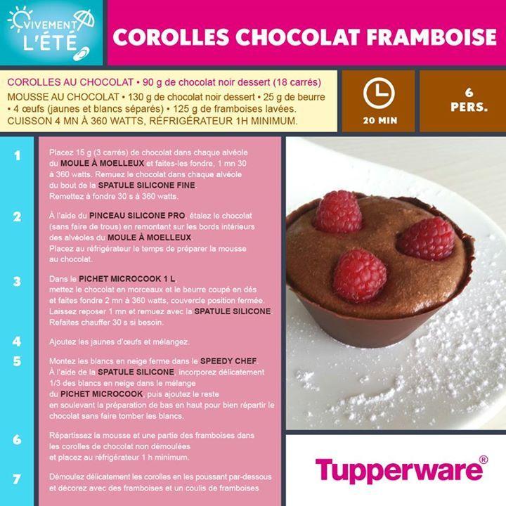 Corolles chocolat framboises - Tupperware