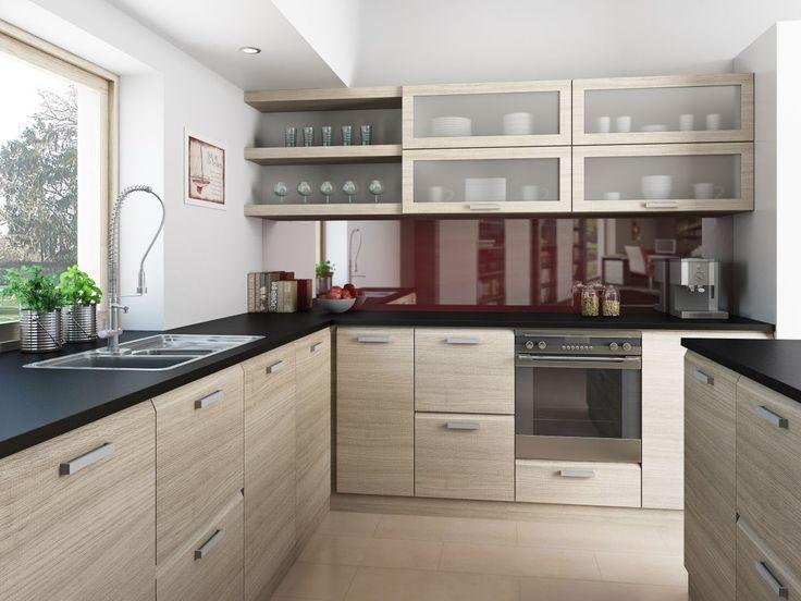 Dub světlý sonoma v moderní kuchyni. Zdroj: Trachea