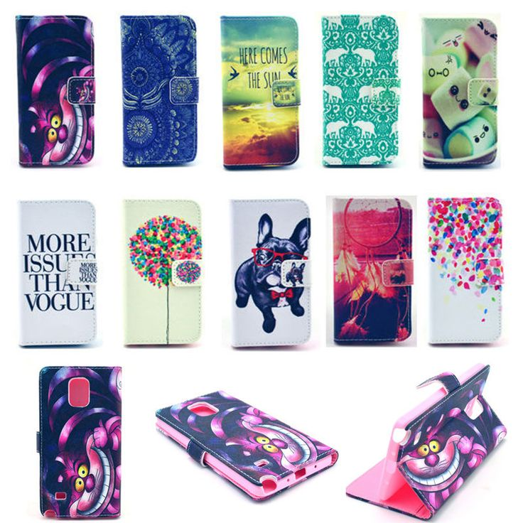 Fashion Flip Stand Wallet Leather Case Cover Skin Card For Samsung Galaxy Phone