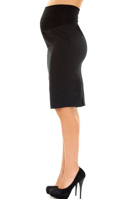 Kate Career Back Pleated Pencil Skirt by Olian | Maternity Clothes  Best selection of professional maternity clothes! available at Due Maternity www.duematernity.com