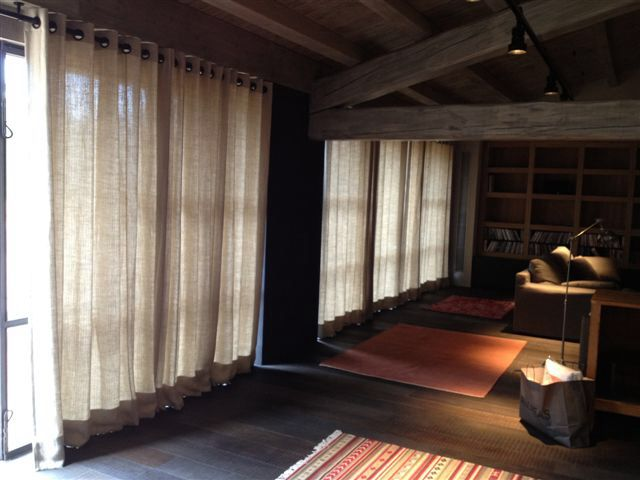 Linen curtains - art. Checkers, V&N Interiors in Spain