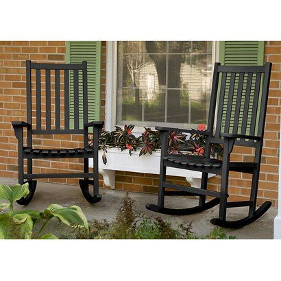Front Porch: Patio Rockers, Rocks Chairs, Rockers Sets, Certified Woods, Woods Patio, Front Porches, Flower Boxes, Fsc Certified, Window Boxes