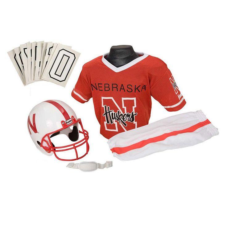 Franklin Nebraska Cornhuskers Football Uniform, Boy's, Size: Medium, Multicolor