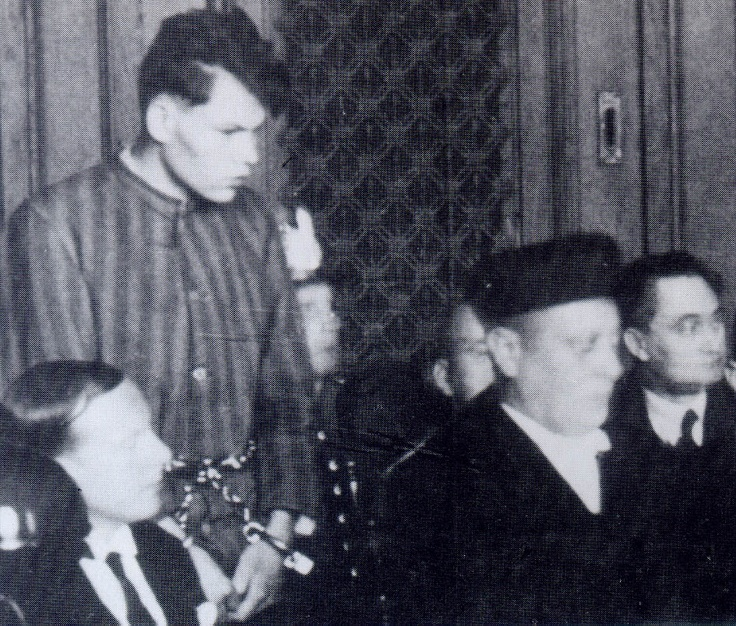 Marinus van der Lubbe was accussed of setting fire to the Reichstag on February 27th, 1933. He was sentenced to death and beheaded on January 10th, 1934. Historians believe the arson was planned by the Nazis as a false flag operation. On January 8th, 2008  a German court ruled that the sentence against Van der Lubbe had to be withdrawn stating he was not guilty of the crime that gave Hitler the opportunity to implement the Reichstag Decrees with which democracy was put out of order.