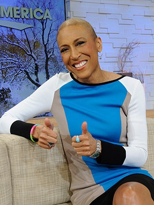 Robin Roberts Returns to Good Morning America for Hosting Test Run...she's a strong woman!! TeamRobin!!