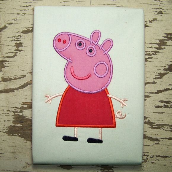 Pippa Pig Applique Machine Embroidery Design Pattern Peppa Pig by LovesApplique on Etsy https://www.etsy.com/listing/227534800/pippa-pig-applique-machine-embroidery