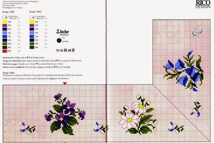 """Милые сердцу штучки: В ожидании весны: """"Фиалки"""" (коллекция схем)"""