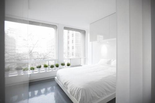 WINDOWSBedroom Interior Design, Futuristic Design, Dash Marshalls, Minimalist Apartments, Bedrooms Interiors Design, Spaces Age, Apartments Suits, White Interiors, Bedroom Interiors
