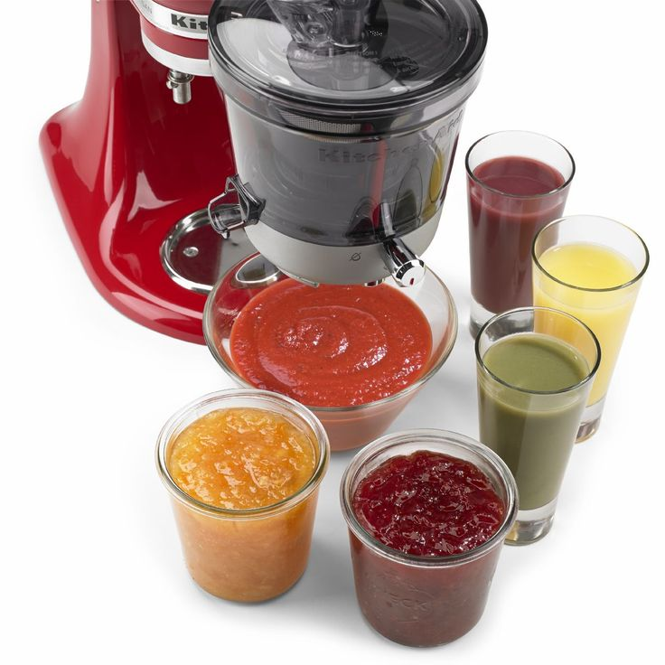 WHAAAA? Need this now.  KitchenAid® Juicer and Sauce Attachment