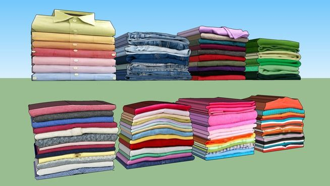 Ropa Doblada, folded clothes - 3D Warehouse