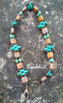 """""""Stackers"""" bracelet. Pattern by Deb Roberti. Beaded by Beaddict."""