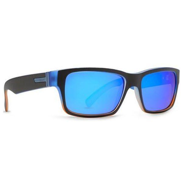 #VonZipper #Sunglasses #FULT Black and Orange Frame with Astro Blue Lenses