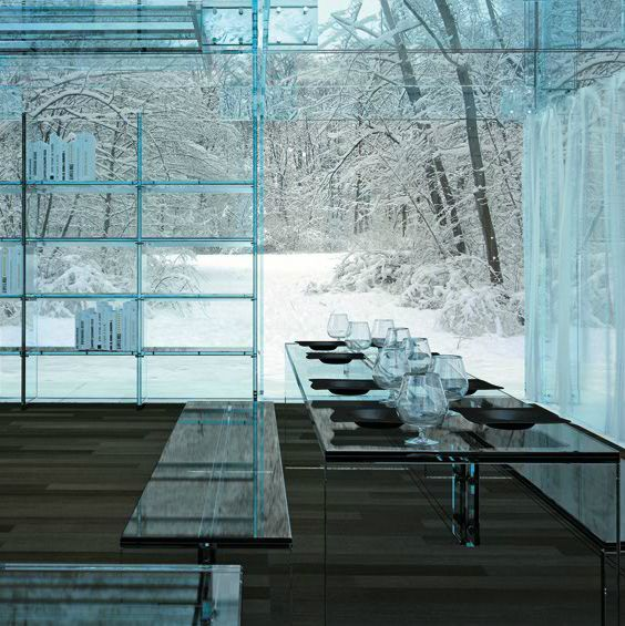 .: Dining Room, Carlo Santambrogio, House Furniture, Winter Wonderland, Architecture, Design Studios, Glass Houses, Glasses House, Glasshouse