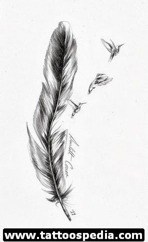 Eagle feather tattoo symbolism for women // maybe I could do the date for this one too