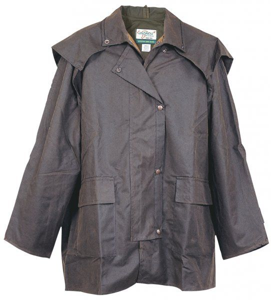 3003 Tracker 3/4 Coat Brown. Oiled Cotton Coat by Jacaru.