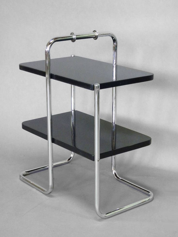 Tubular Chrome Deco Style Tables | Machine Age Tubular Chrome Art Deco Side Table by Wolfgang Hoffmann at ...