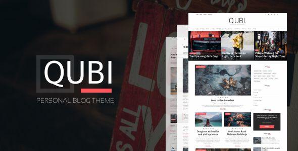 Download Qubi Premium Blogger Template Blog Themes Blogger Templates Web Design