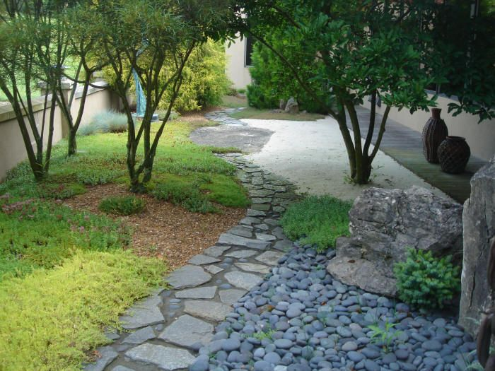 Garden Path At Schnormeier Gardens