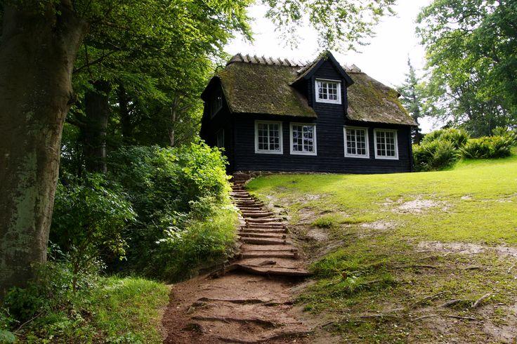 Black house white trim exteriors pinterest - Black house white trim ...