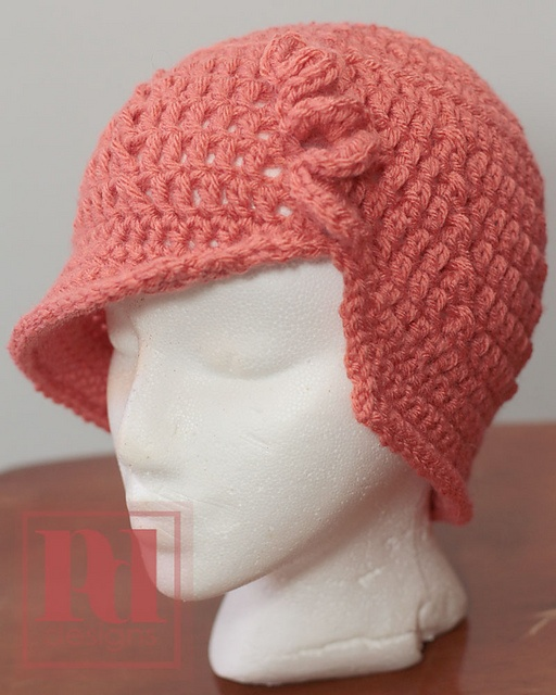Flapper Cloche with Frill Accent by Pamela Dempseyclose--pattern for purchase