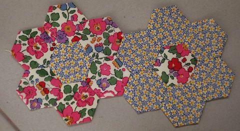 Grand Mother's Garden Hexagons 001