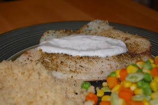 ... Not Cook Well With Others: Mediterranean Tilapia with Lemon-Dill Sauce