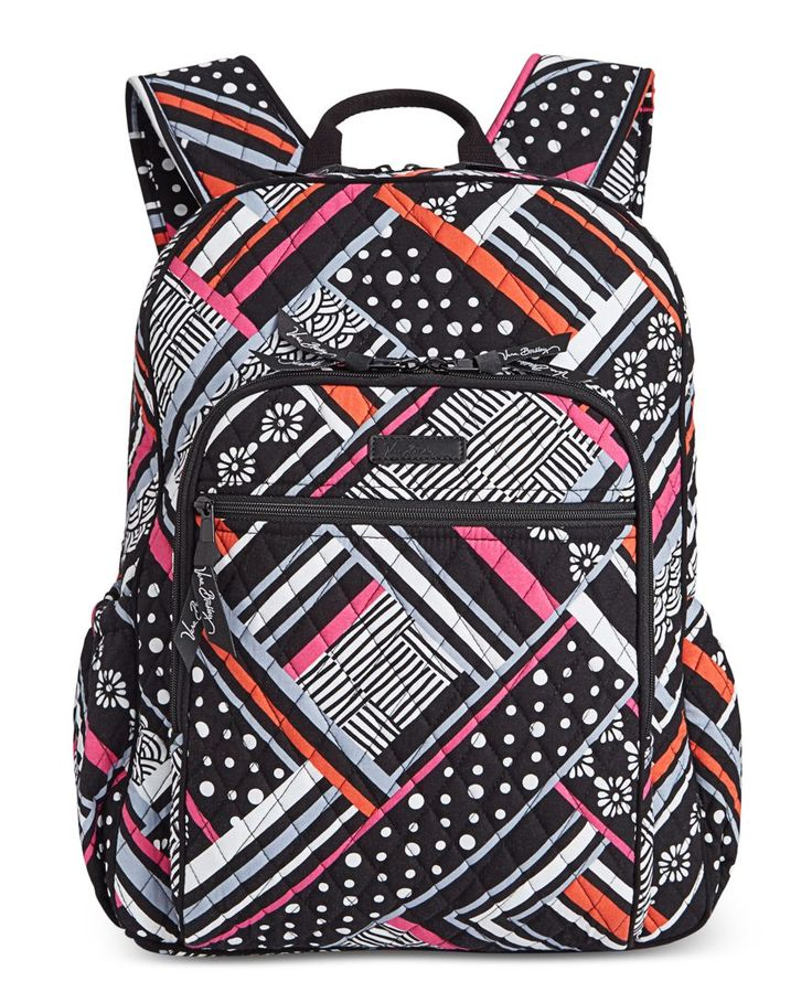 """Get set for the best school year ever with Vera Bradley's punchy-hued backpack crafted in lightweight signature quilted cotton. 