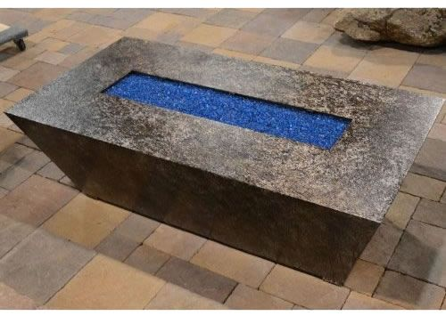 Rectangular Gas Fire Pit Table With Electronic Ignition