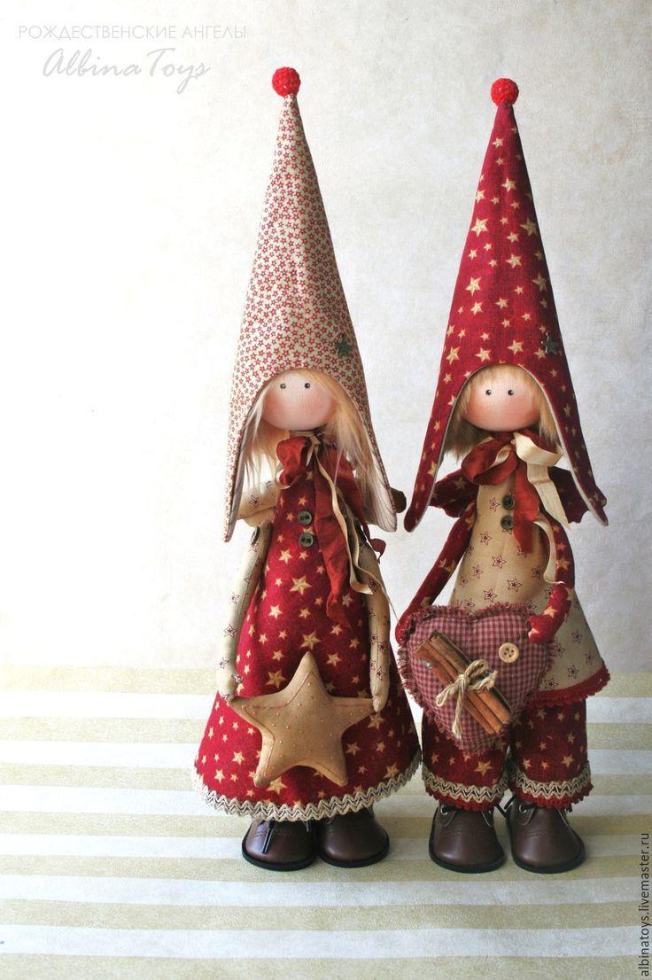 Купить Ангелы. Рождественский ангелочки мальчик и девочка. - кукла ручной…