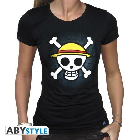 ONE PIECE T-shirt One Piece femme Skull with map