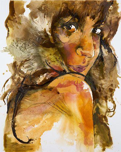'Self-Portrait I' by Johanna Wilbraham. Oil on canvas, 120 x 150 cm
