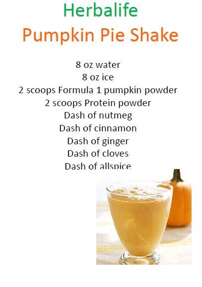 My Herbalife Pumpkin Pie Shake Recipe
