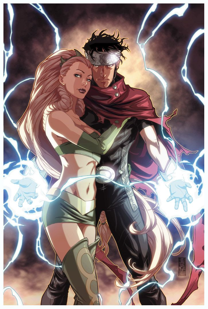 Young Avengers - Enchantress and Wiccan.