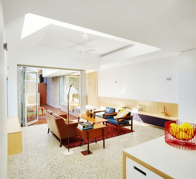 Skylight about living spaceSouth Terrace Additions  Philip Stejskal Architecture