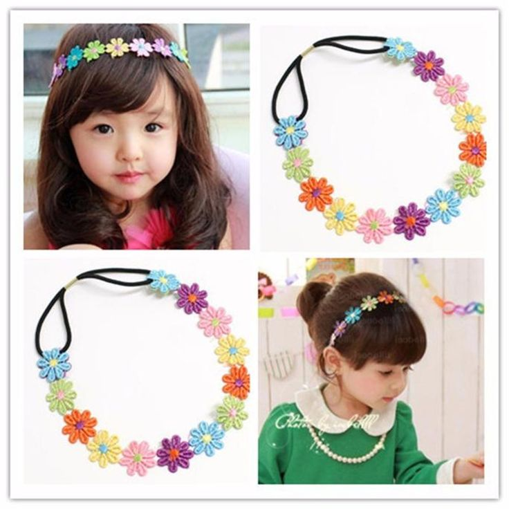 Delicate Hot! 2016 Fashion Girl Baby Girl Headband Lace Hairband Girls Pearl Flower Headbands hair accessories Ju15 wholesale