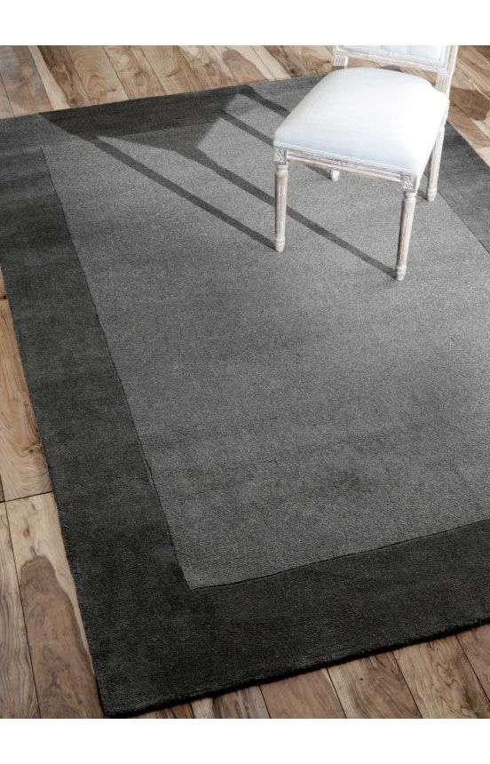 Rugs Usa Tuscan Woven Solid Border Grey Rug Rugs Usa