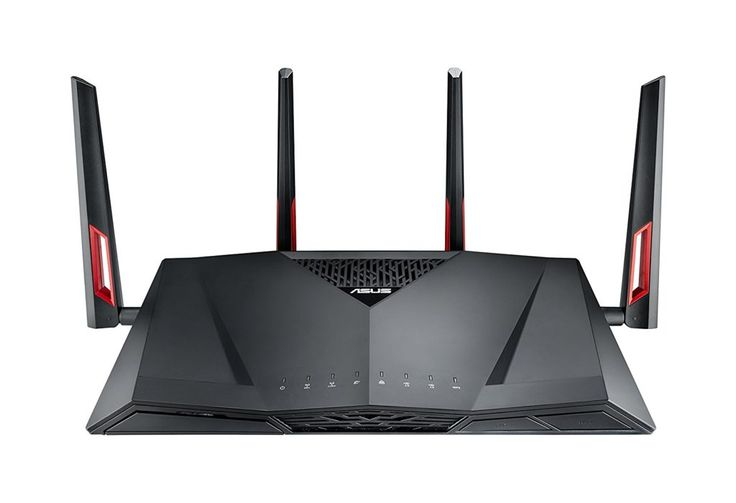 Best Router for Gaming – ASUS RT-AC88U Review  The ASUS RT-AC88U is Asus' competition to the X4S from Netgear and the DIR-885L/R from D-Link. Coming in at a very similar price, and with a very similar aesthetic to those two, it's another great offering if you can get past the gamer aesthetic. One major difference between this and our other linked routers, and why it made our list is because it features 8 LAN ports, which is double what seems to be the standard