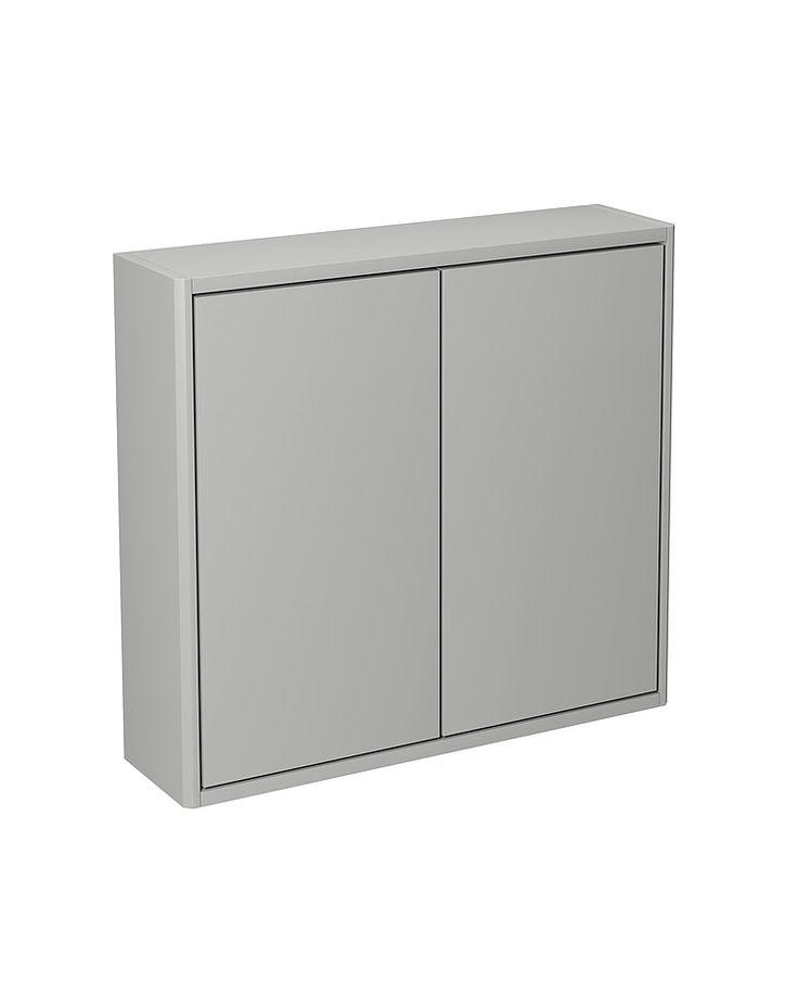 Badrumsförvaring ZZD GCSC16.Väggskåp, varm grå slät lucka
