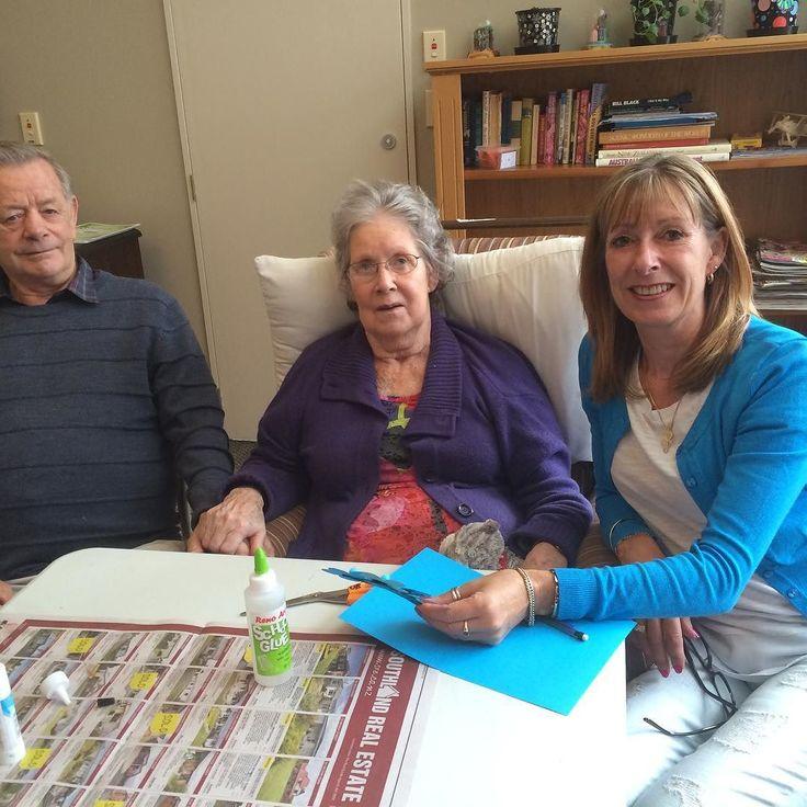 Craft time at Rowena Jackson. With mum & dad.