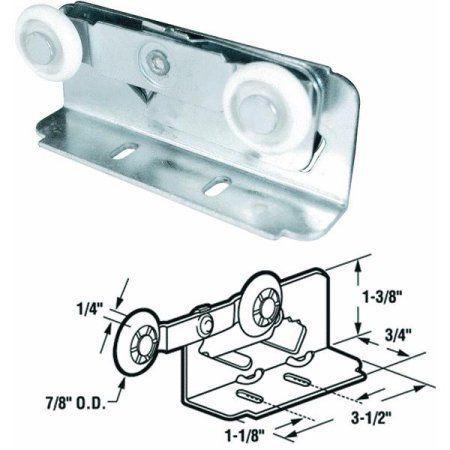 Slide-Co 16497 Twin Pocket Door Roller,(Pack of 2), Multicolor
