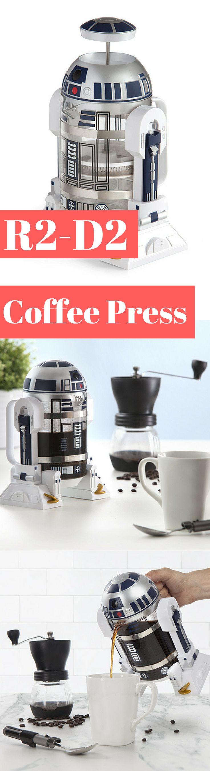 Star Wars R2-D2 Coffee Press - Star Wars Kitchen items #starwars #kitchen #coffepress #r2d2