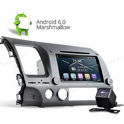 US CAM Eonon Quad Core Android 6.0 For Honda Civic 06-10 Car CD DVD GPS Player B