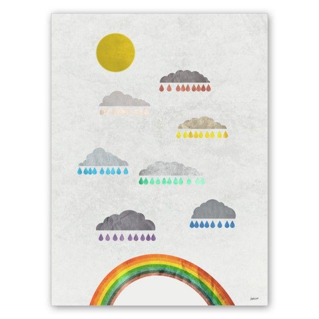 Hur regnbågar görs - 20x30 cm - barnposters - TAVLOR & POSTERS
