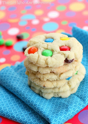 Chewy M Sugar Cookies | The Girl Who Ate Everything: Sugar Cookies, M M Sugar, Girl, Cream Cheese, Chewy Mm, M M Cookies, Cookie Recipes, Dessert